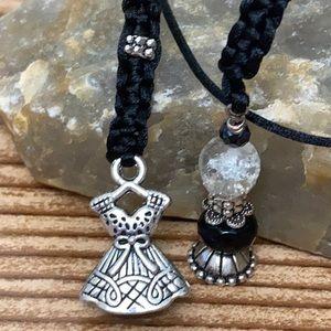 Crystal ball Magic Bottle Vial jewelry set